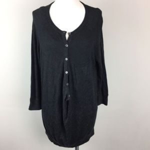 Vince Sz S Gray Front Button Pocket Sweater